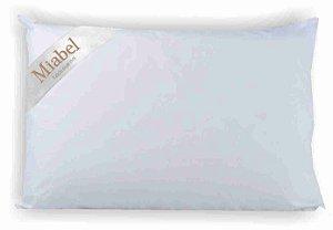 Travesseiro de Viagem -Miabel -Marrom- Penas de Ganso -Penas sem cabinho- 35X50 cm