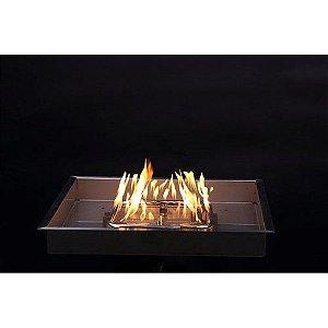 Fire Pit Quadrado a Gás - Lareira a Gás para Área Externa