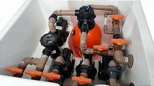 Casa de Maquina Fibra Automatizada 4 motobomba e Ozônio