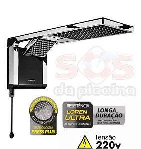 Ducha - Acqua Duo Ultra - 220V - 7800W - Preta e Cromado