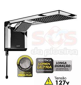 Ducha - Acqua Duo Ultra - 127V - 5500W - Preta e Cromado