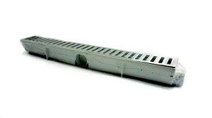 Ralo Linear Seca Piso 6x50 Cm Continuo Grelha em Aluminio C/ Coletor