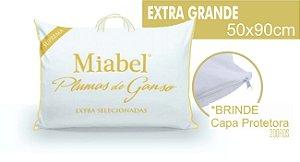 Travesseiro Miabel Suprema 100% Plumas De Ganso *Extra Selecionado*  50x90 cm Com fronha