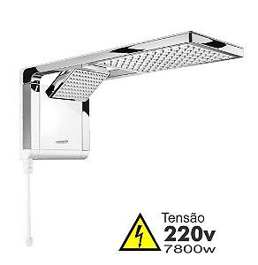 Ducha - Acqua Duo Ultra - 220V - 7800W - Branco e Cromado