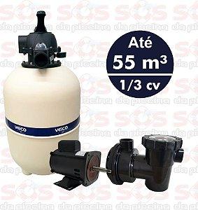 Filtro  V40 Veico Até 55 M³ - E Motobomba  1/3 Cv - Cmb 127v