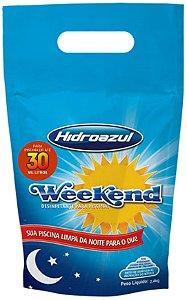 Cloro Weekend - HidroAzul - 2,4 Kg Para piscinas Até 30 m³