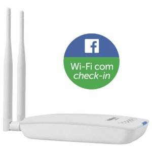 ROTEADOR WIRELESS COM CHECK-IN NO FACEBOOK HOTSPOT300 INTELBRAS