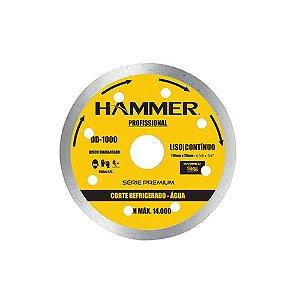 DISCO  DIAMANTADO HAMMER 110 LISO/CONTINUO  AGUA 1000