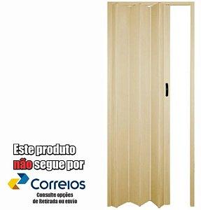 PORTA SANFONADA PERLEX PVC 84 X 210 BEGE