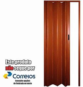 PORTA SANFONADA PERLEX PVC 84 X 210 mogno