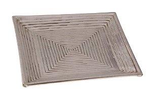 Bandeja de Bronze Square Tray 27cmx27cm Vênus Victrix