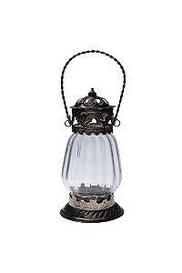 Lanterna Decorativa de Vidro e Metal 16cmx8,5cm Vênus Victrix