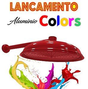 Chuveirão - Ducha Cascata - Alumínio Colors - Vermelha - 12 Polegadas