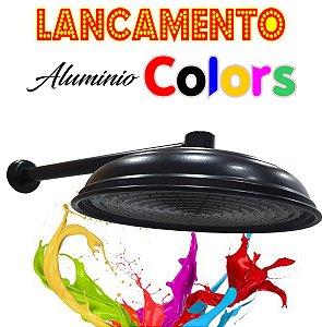 Chuveirão - Ducha Cascata - Alumínio Colors - Preta - 12 Polegadas