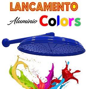 Chuveirão - Ducha Cascata - Alumínio Colors - Azul - 15 Polegadas