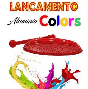 Chuveirão - Ducha Cascata - Alumínio Colors - Vermelha  - 15 Polegadas