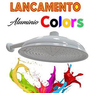 Chuveirão - Ducha Cascata - Alumínio Colors - Branca - 12 Polegadas