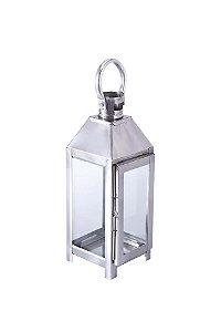 Lanterna Decorativa de Metal e Vidro 27cmx9cmx9cm Vênus Victrix