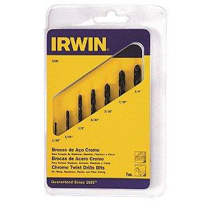 """BROCA A.R. IRWIN 1/16a1/4"""" KIT C/ 7 peças"""