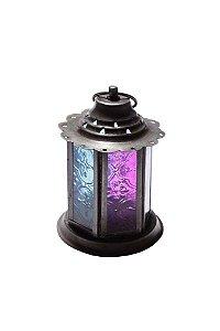 Lanterna Decorativa de Vidro e Metal 12cmx8,5cm Vênus Victrix