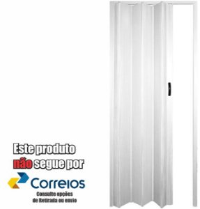 PORTA SANFONADA PERLEX PVC 96 X 210 BRANCA