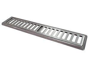 Conjunto Grelha e Porta Grelha Alumínio 10x50 cm