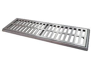 Conjunto Grelha e Porta Grelha Alumínio 15 x 50 cm