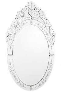 Espelho Veneziano Bisotado Oval 100cmx57cm Vênus Victrix