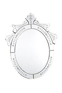 Espelho Veneziano Bisotado Oval 50cmx40cm Vênus Victrix