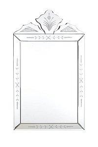 Espelho Veneziano Bisotado Retangular 50cmx30cm Vênus Victrix