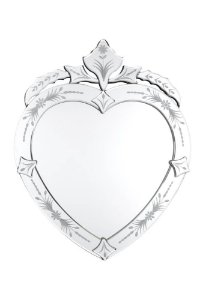 Espelho Veneziano Bisotado Coração 40cmx50cm Vênus Victrix