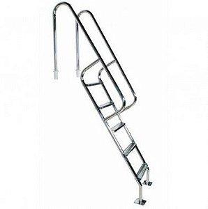 Escada para Piscina - Barcelona - 5 Degraus - 1,60 M - Aço Inox 304