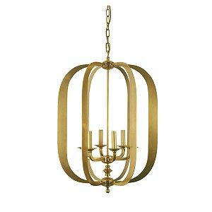 Lustre Metal Retrô Dourado 55cmx76cm Vênus Victrix Bivolt
