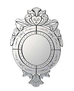 Espelho Veneziano Bisotado Redondo 56cmx90cm Vênus Victrix