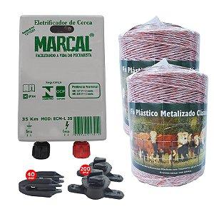 Kit Eletrificador Rural Cerca Eletrica Gado Completo - 1000 M