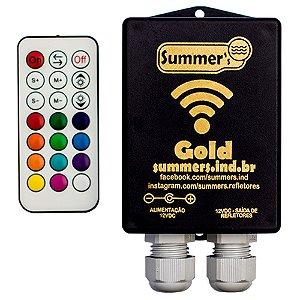 Caixa de Comando Wifi 60W Gold RGB Com Controle - Com  Fonte 12v 5A