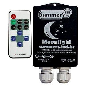 Caixa de Comando Monocromático Moonlight  Com Controle -Com fonte 12V 5A