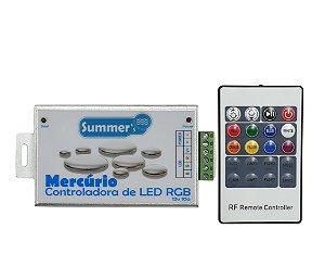 Caixa de Comando  Mercurio   - Controladora de LED RGB 60W - Com controle e Fonte 12V 5A