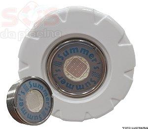 Refletor Power Slim Monocromatico Azul 13W - com Dispositivo