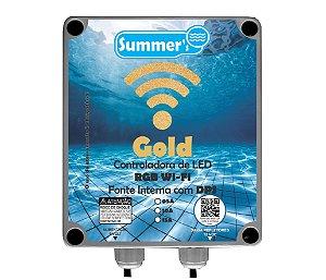 Caixa de Comando Wifi 60W Gold RGB Com Controle - Com  Fonte interna