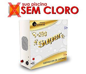Ozônio - Q1 Ambiental S+200 SUPER  Para Piscinas até 200000 Litros -Residencial