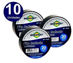 10 UNIDADES FITA ISOLANTE BRASFORTE 20 METROS  x 19mm