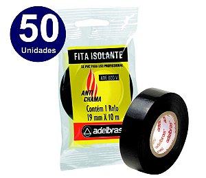 50 UNIDADES  - FITA ISOLANTE ADELBRAS 10 METROS X19MM