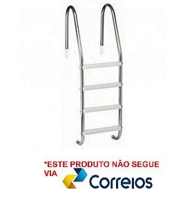 Escada para Piscina - Aço Inox 316 - 4 Degraus em Abs