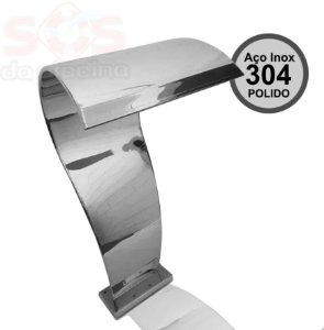 Cascata para Piscinas - London  Naja - Aço Inox 304 Polido - 1,05 M