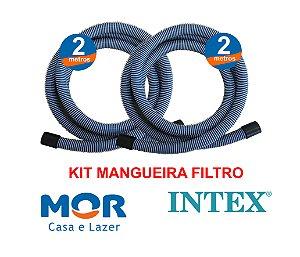 Kit Reposição Mangueiras Do Filtro Para Piscina Mor Intex Bestway