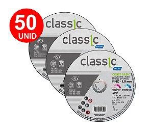 50 UNID DISCO de CORTE Para INOX NORTON BASIC 4 1/2X1,0X7/8