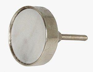 Puxador redondo metal cromado