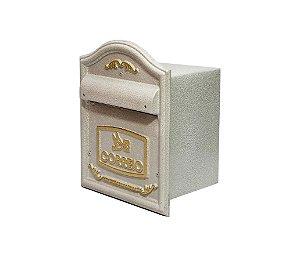 Caixa De Correio / Correspondência Luxo Colonial P/ Parede Muro Ou Portão (medida Frontal 28x22 Cm)