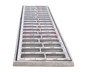 Grelha e Porta Grelha Alumínio Anti-Derapante 15 x 50 cm